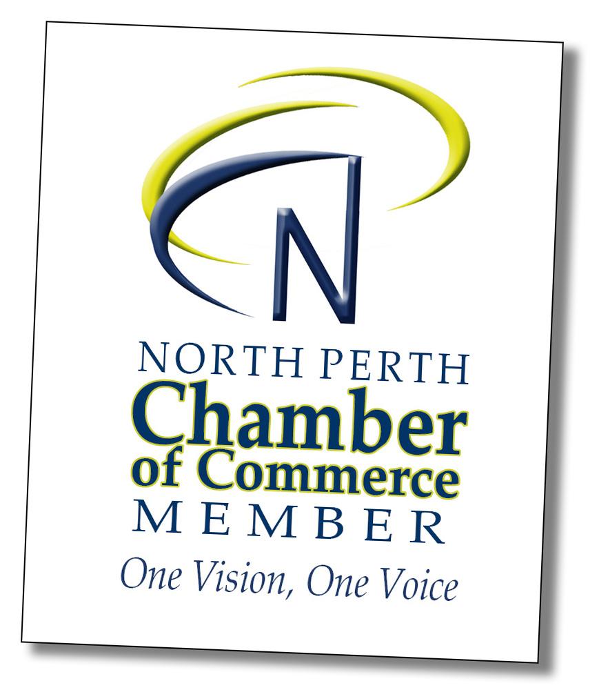 North Perth Chamber Membership Sticker