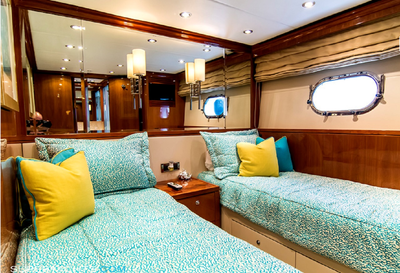 Luxury Charter Yacht Cynderella Guest Stateroom Twin Convertible