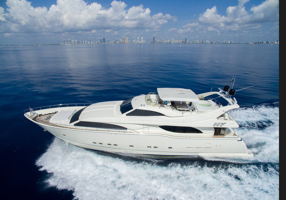 M/Y OOZ   Sexy Ferretti custom line, GREAT VALUE, priced to charter!