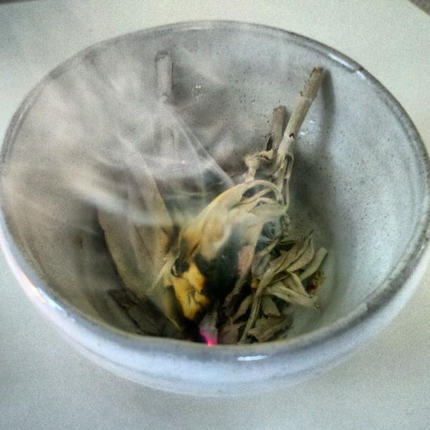 Sage smoke is antiseptic!Truly purifying!