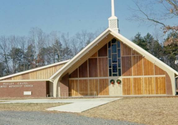 The First Service  Held in the New Church Building