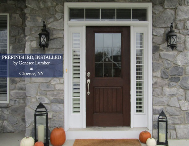 Fiberglass Door installed by Genesee Lumber