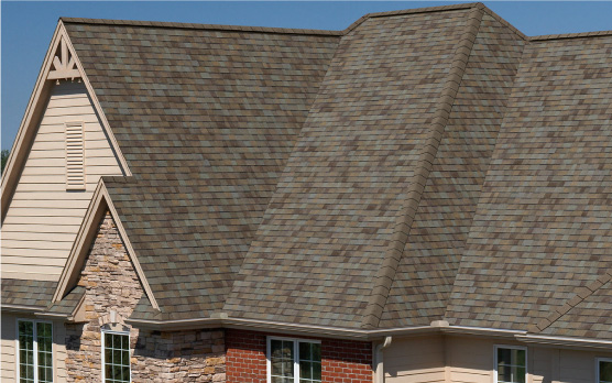 brown shingles by owens corning