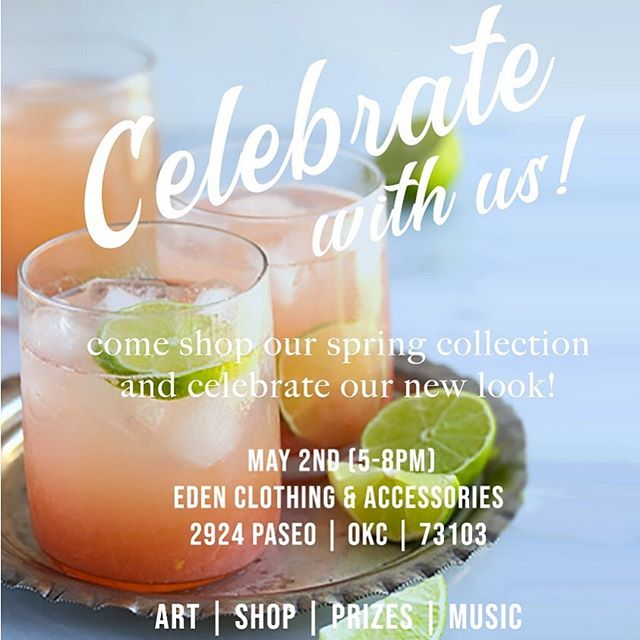 Prepping for tomorrow's party!! We're so excited to celebrate!! Bring your gal pals and join us for a night of drinks, music and fashion! . . . . #edensokc #paseoartsdistrict #fashion#oklahoma #streetstyle #okcstreetstyle #friends #thirtsythursday