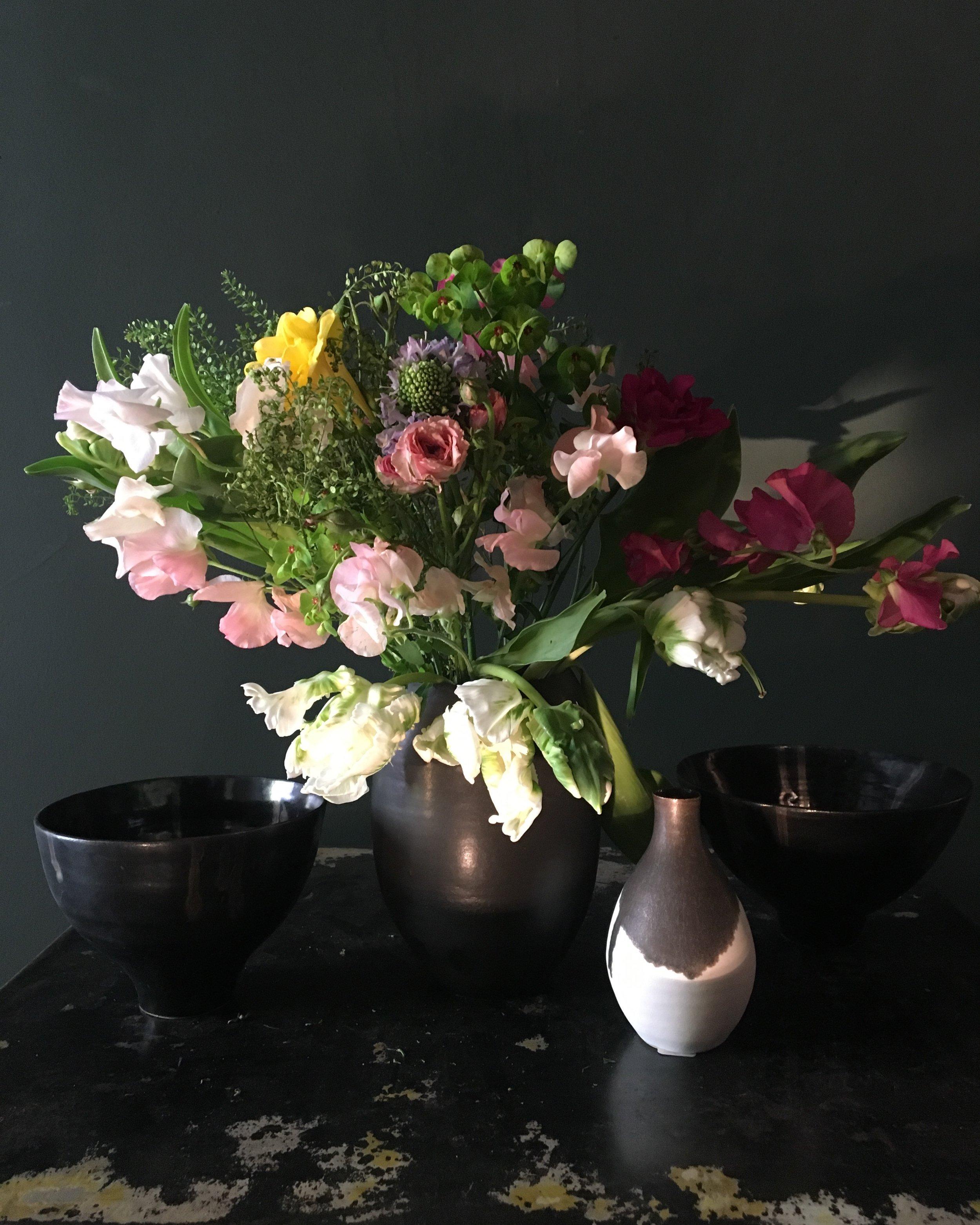 Bouquet by Horty Poetry, April 2019, Ceramic by Valerie Valençon