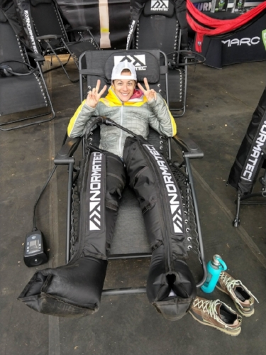 Under Armour had an awesome recovery station set up for post-race.
