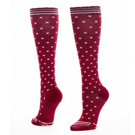 Lily Trotters In-Stitches - The new In-Stitches compression sock is a mature design in rich colorways that speak to the strong woman ready and willing to compete with the guys.
