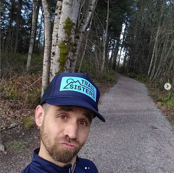 Do my  #ducklips  make me a better candidate for the trail  #trailsisters  ? Or is it the freshly trimmed beard? Just trying to keep my  #femininefigure  with all this  #trailrunning .  #ttcb7   #wannabetrailsister   #runningishard