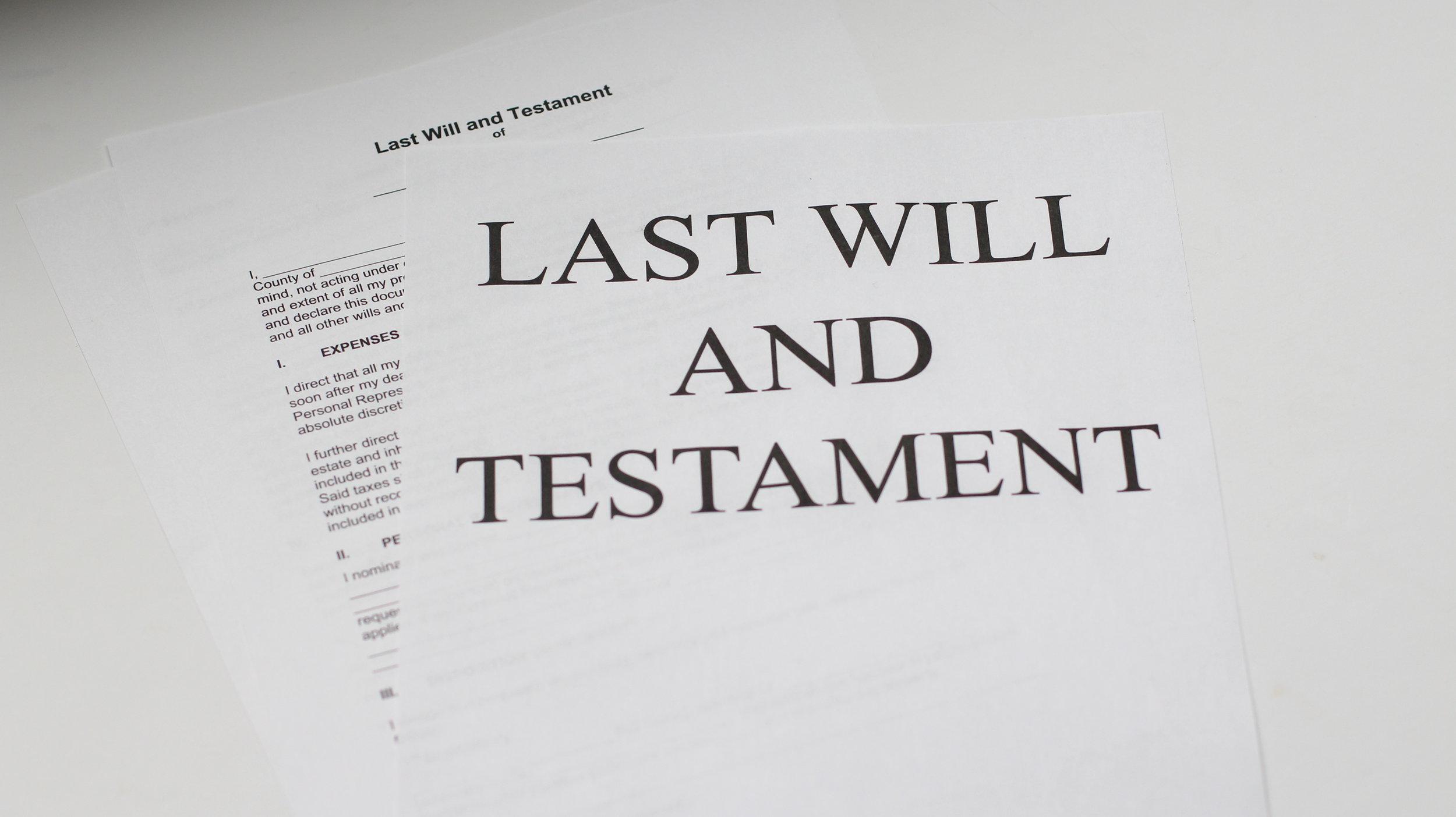 Wills and Estates
