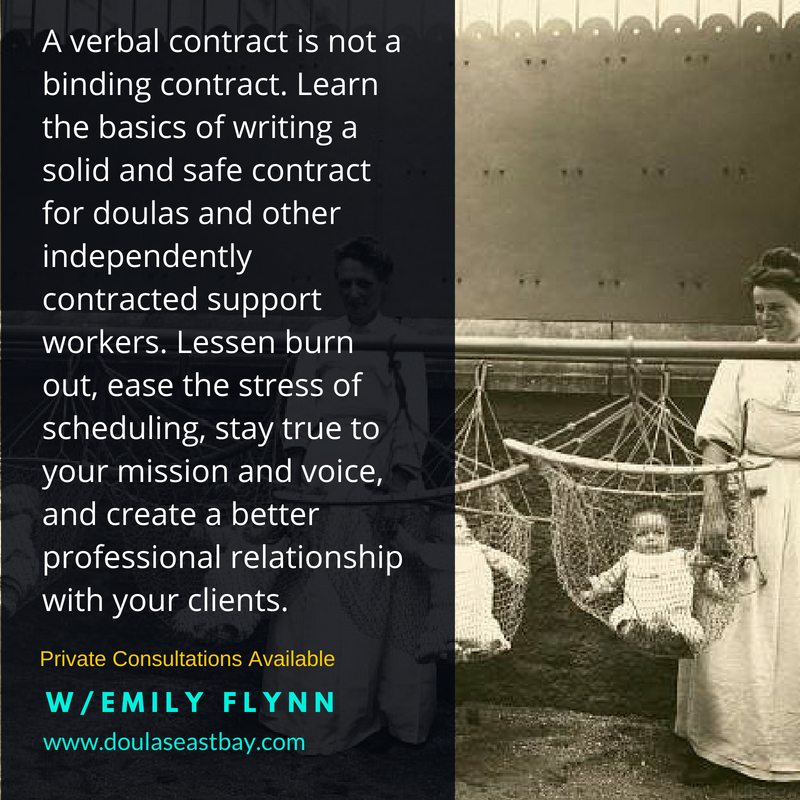 Contract Writing for Doulas