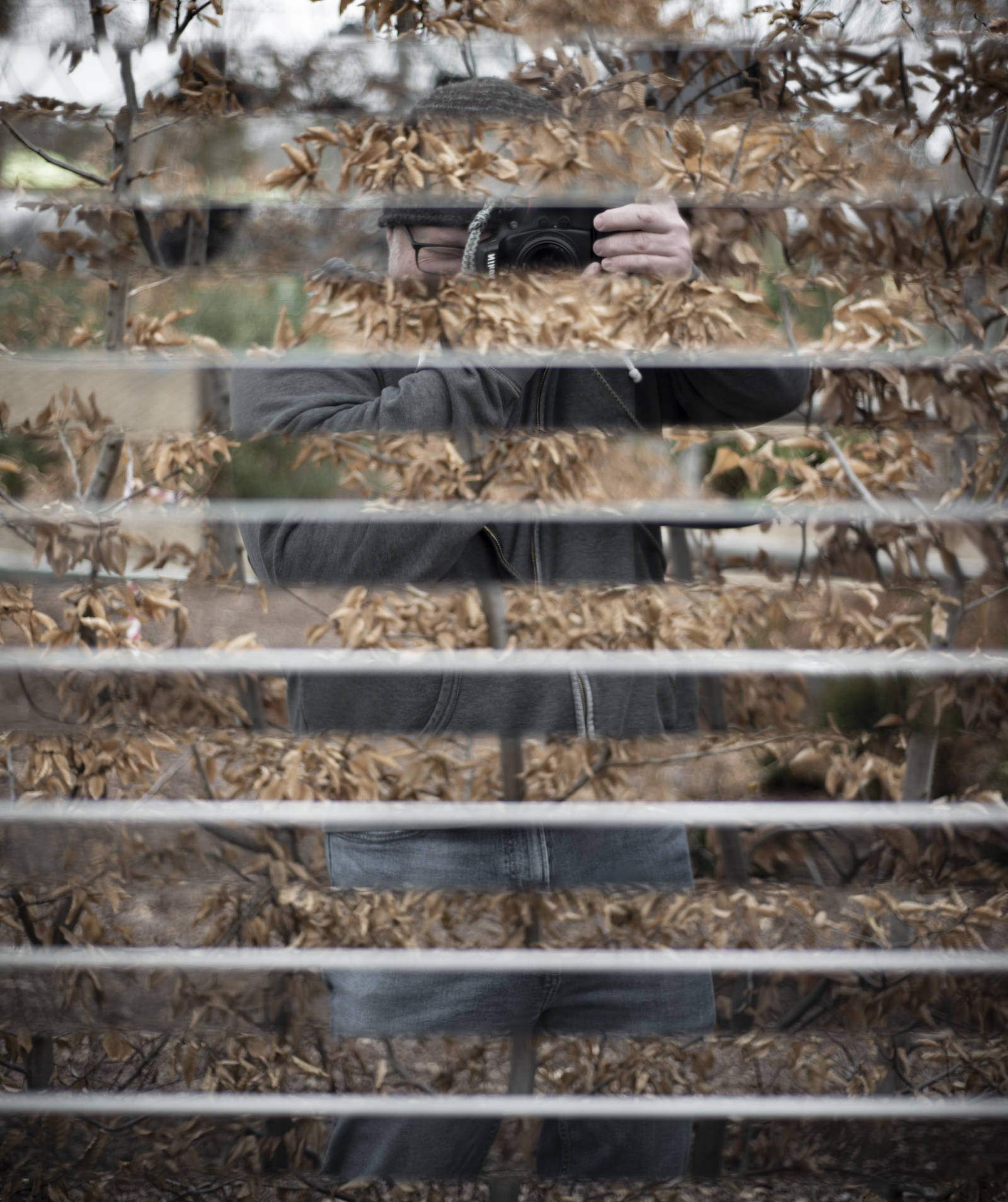 Gathering Place, I found these mirrored slats in an area with some other interactive elements. It was a cold first day of the year, staying in the twenties with a good breeze.  #dothework  #goanddo   #liveyourpassion   #365  #365project   #gatheringplace   #tulsaok  #travelok   #oklahoma