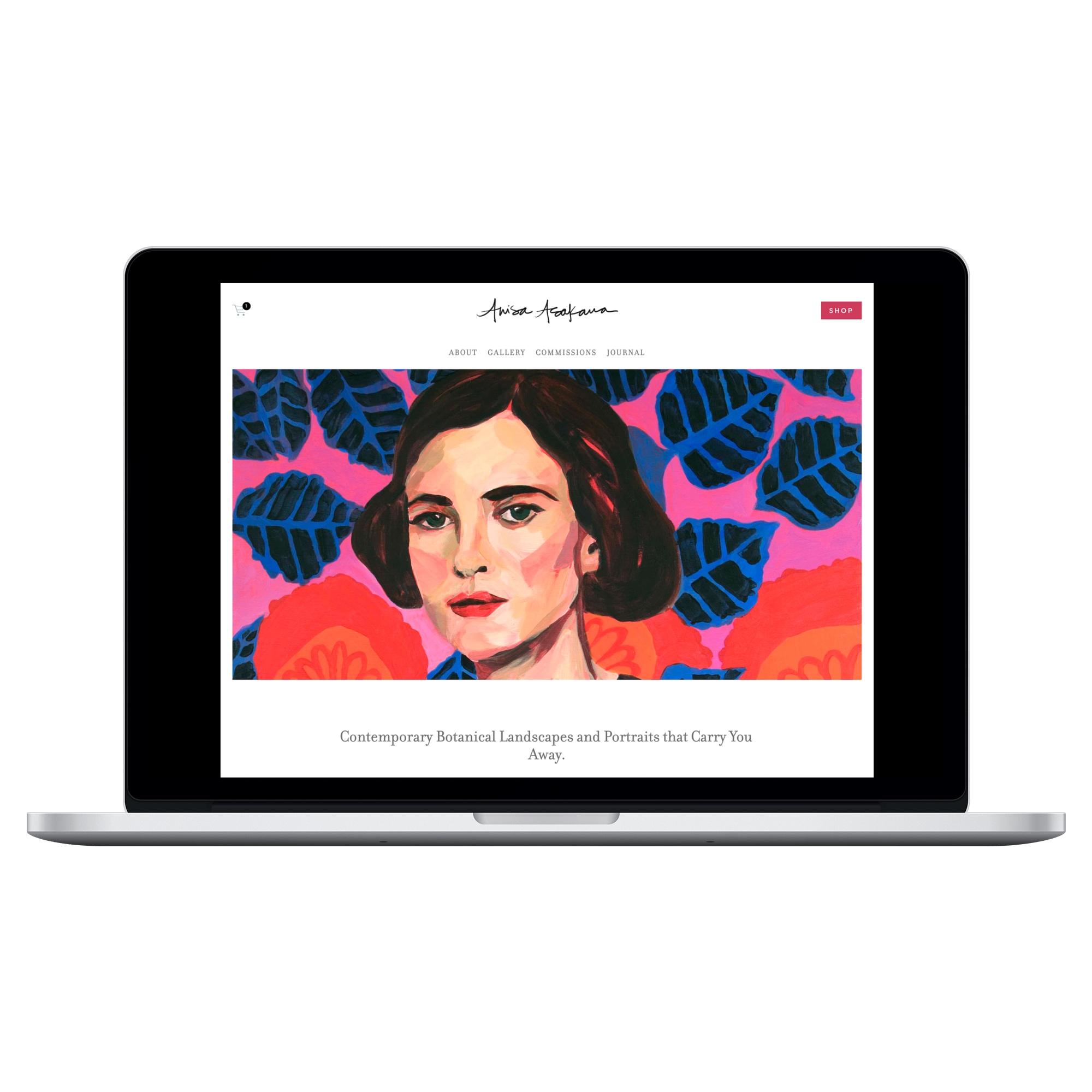 Web + Brand + copy - For Fine Artist, Anisa Asakawa