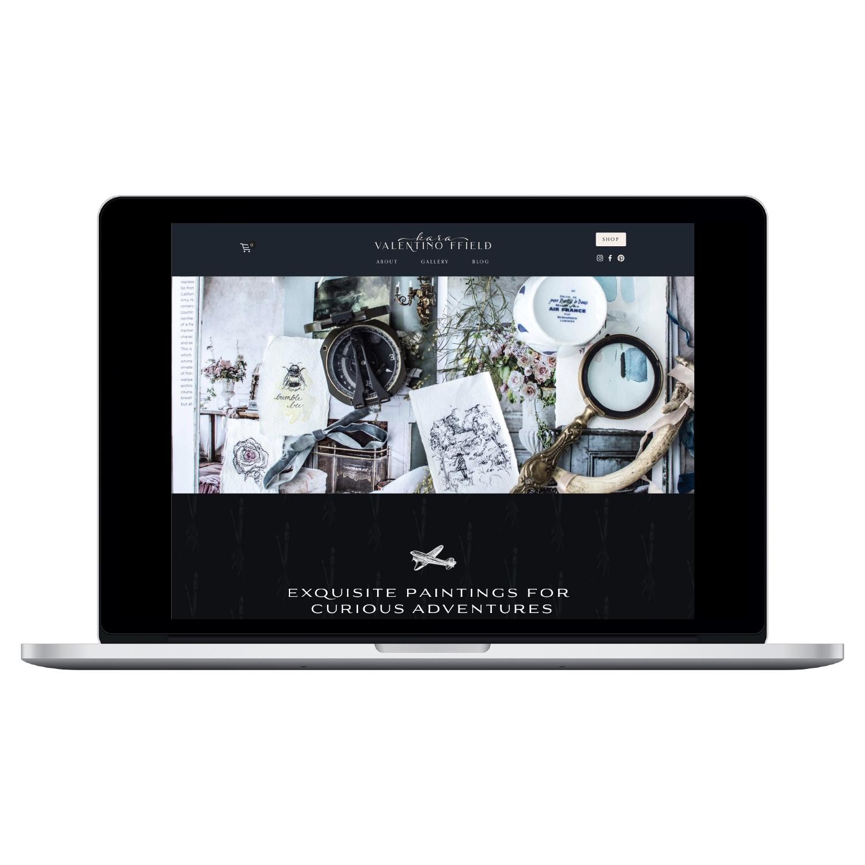 Web + Brand + copy - For Fine Artist, Kara Valentino Ffield