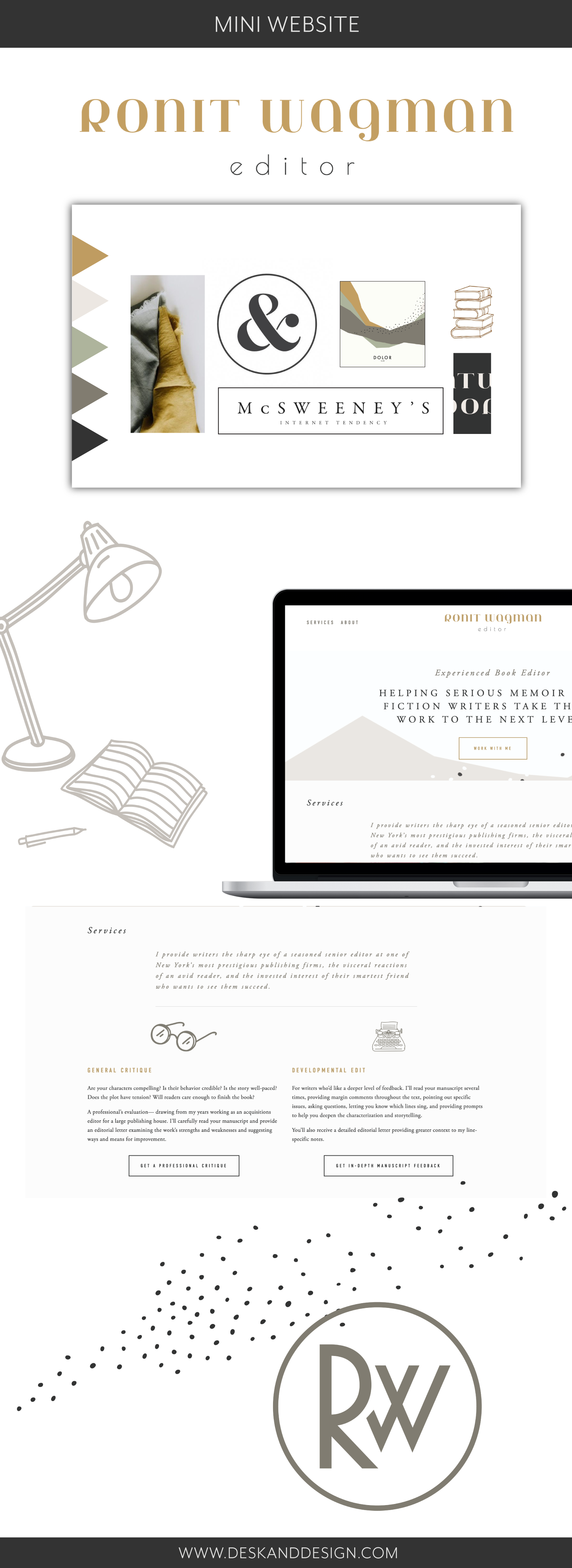 Squarespace web design, branding, and copy by Desk and Design
