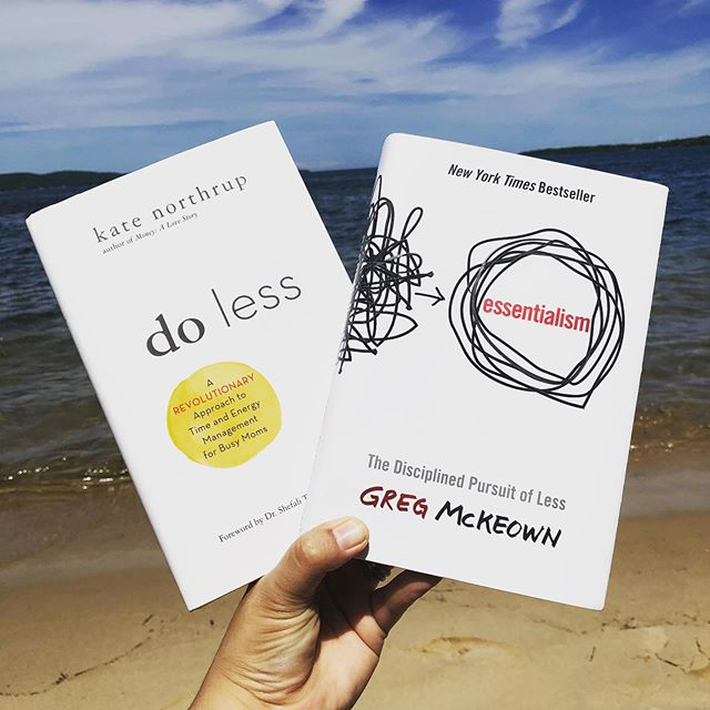"""Doing less in order to experience more"" is definitely a super top goal of mine. Cutting through the clutter of life and work, designing systems and minimizing decisions so that I have more to give to the people and things that really matter.  #doingless #essentialism #katenorthrup @katenorthrup @gregorymckeown"