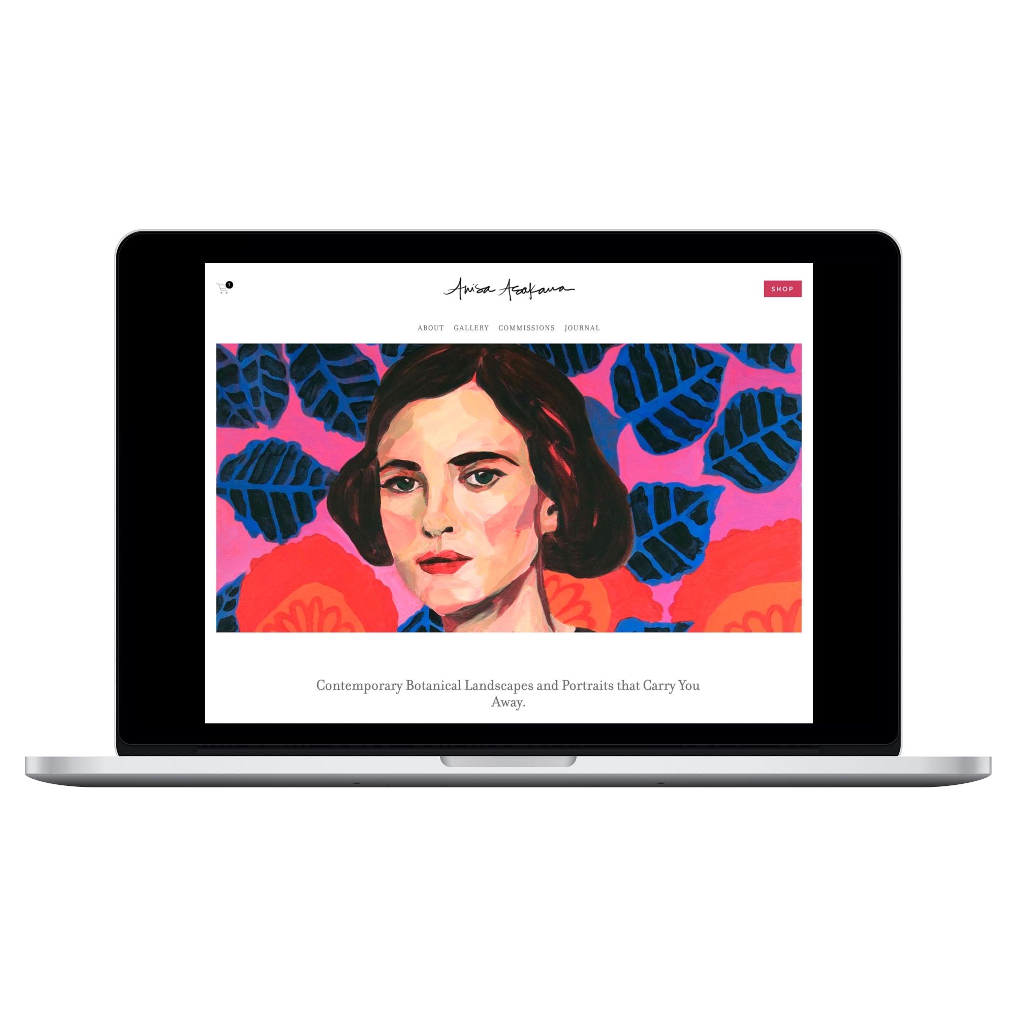 Web design, branding, and copywriting for fine artist Anisa Asakawa by Desk & Design.jpg