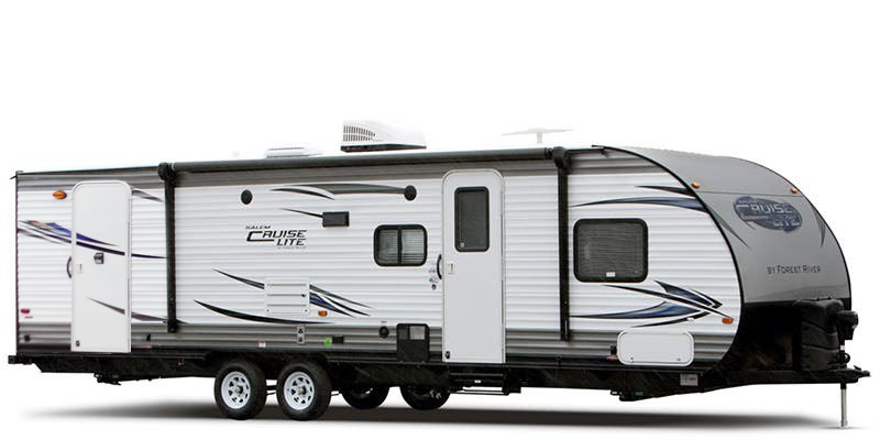 Salem Cruise Lite 263BHXL - This Salem Cruise Lite trailer is great for a larger family! With a double bed set of bunks, two entry doors, & a large slide in the main living area, you can easily see how this model can serve your family well.