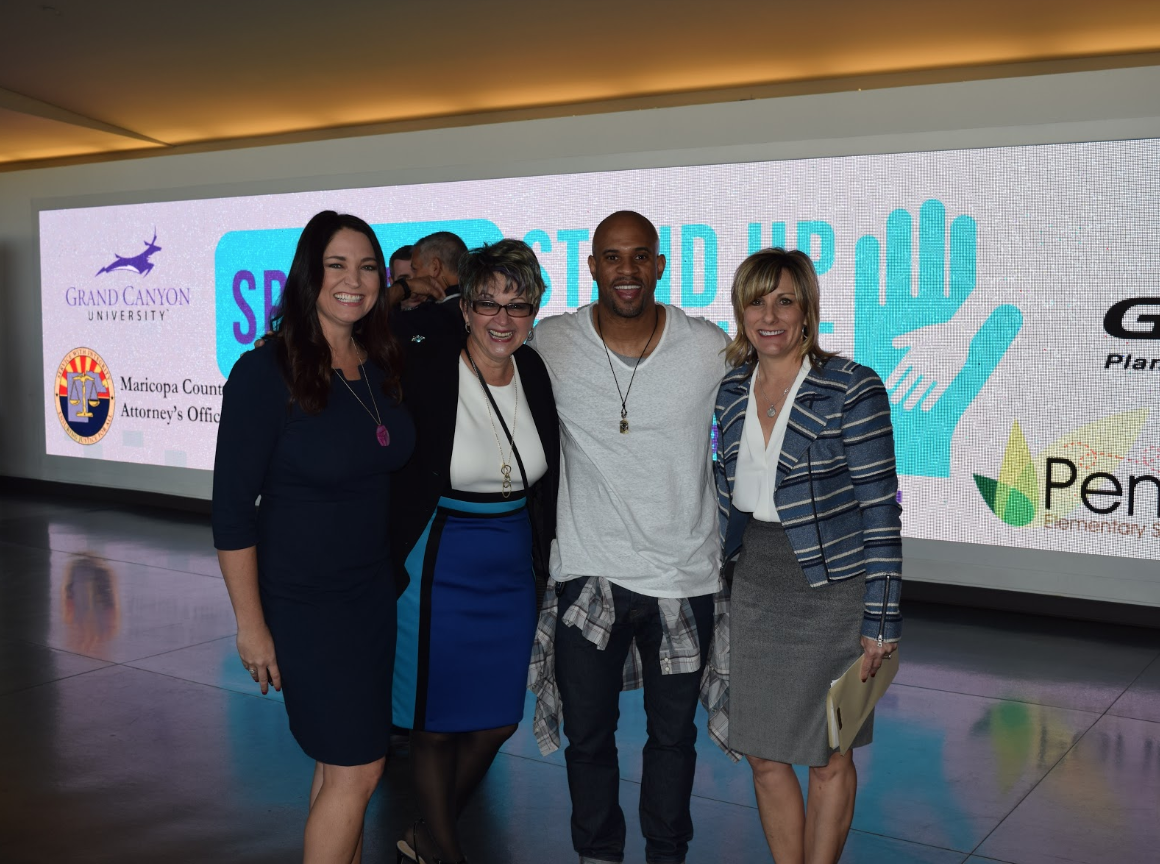 From left to right: Jennifer Vogel Rogers, Dr. Lily DeBlieux, Jeremy (Keynote), Gina Godbehere