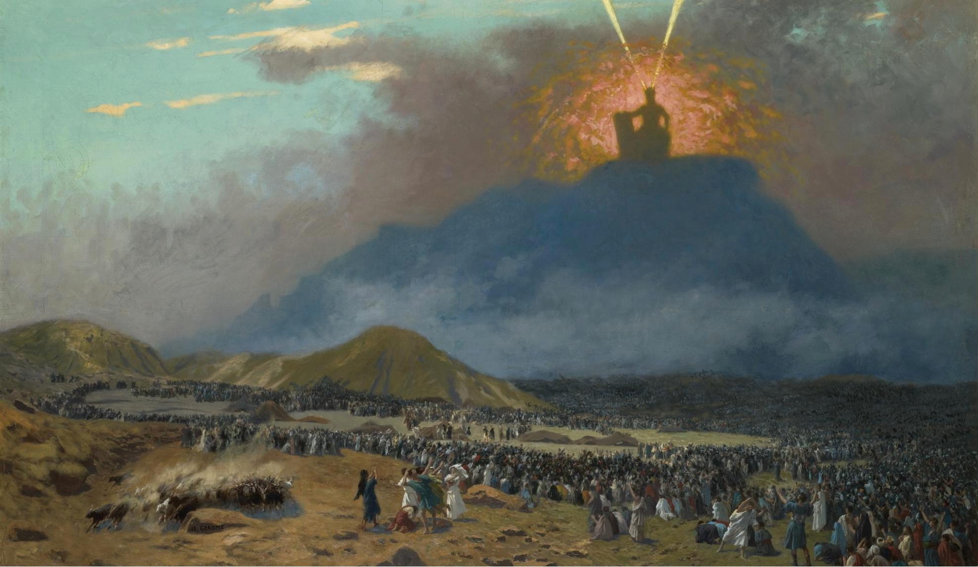 Jean-Léon Gérôme,  Moses on Mount Sinai  (c. 1895)