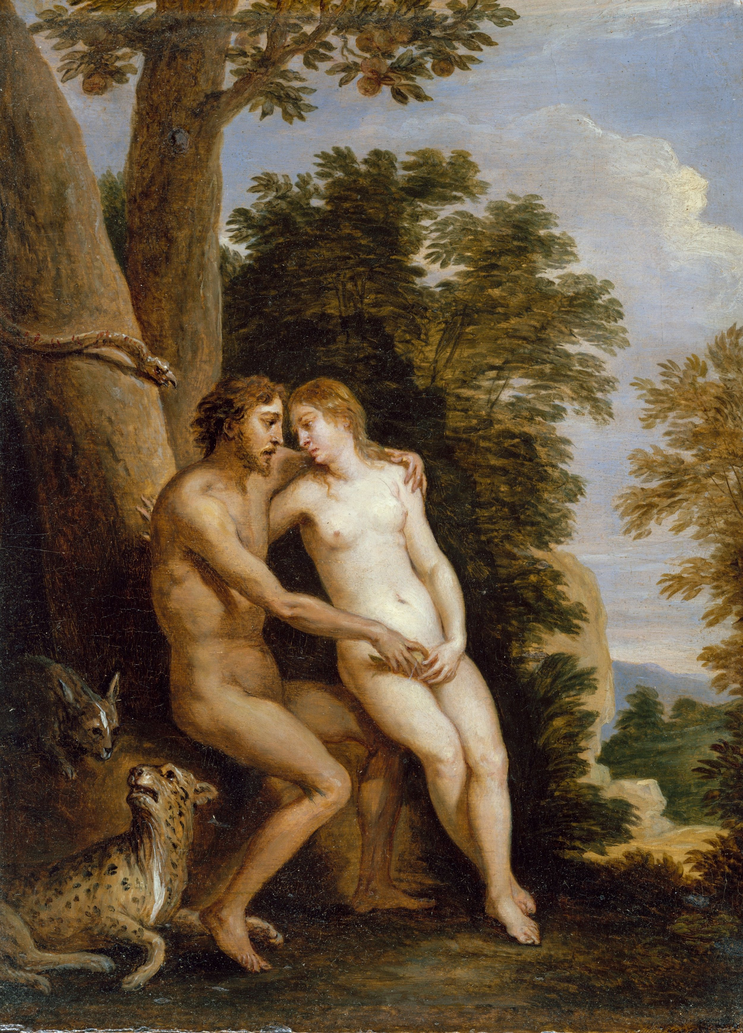 David Teniers,  Adam and Eve in Paradise  (c. 1650)