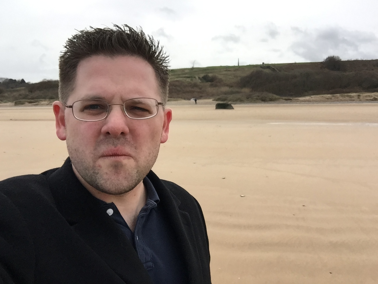Omaha Beach (Selfie from the beach)