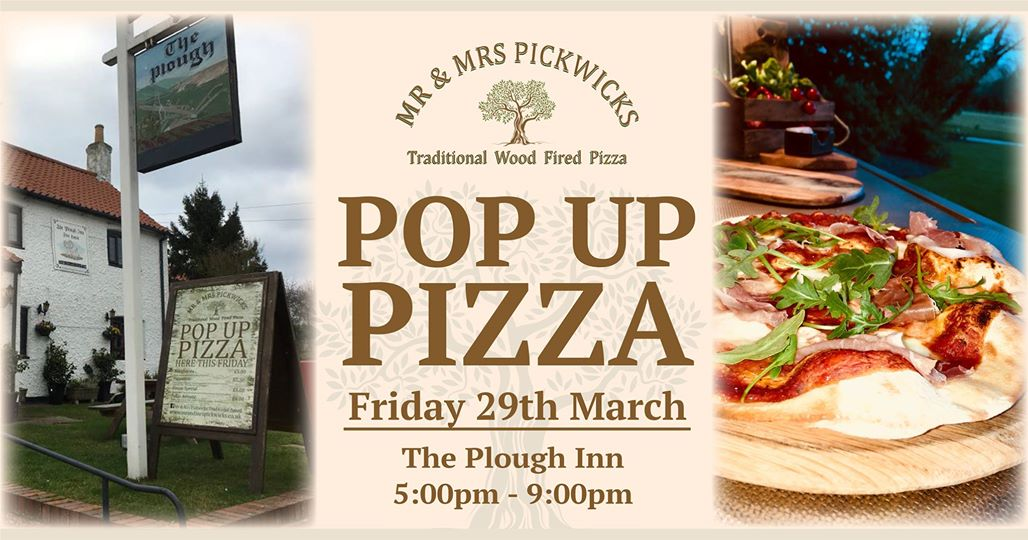 We're back where it all started for our 2019 Pop-Up Pizza season - Last Friday of every month at  The Plough Inn , South Leverton. Serving freshly made wood fired pizza to order from 5pm to 9pm. The Plough is a beautiful, friendly traditional pub with cosy log fires and a lovely atmosphere. So you're welcome to pop in for a couple of drinks whilst you enjoy your pizza, or take-away. Catering for vegan and gluten free - just message us in advance Hope to see you Friday 🍕🍻