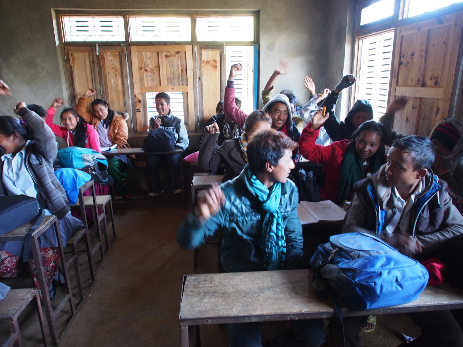 Class 10 in Attarpur - Motivated to succeed