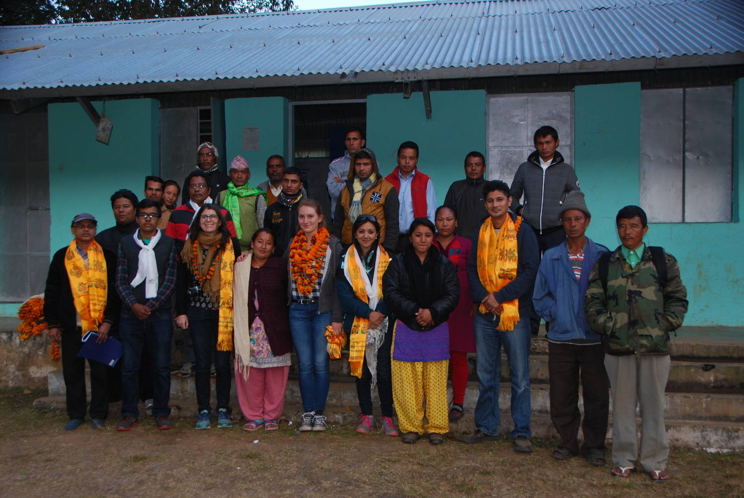 Our group with the Attarpur teachers and administration taken just before our evening departure.