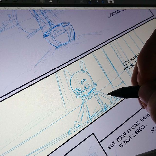 working on things  #comics #cartooning #makecomics #digitalart #surface