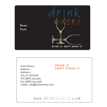Sample Business Card for new Winery