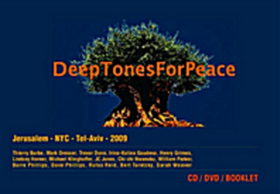 "DEEP TONES FOR PEACEDVD/CD - Deep Tones for Peace documents the historic concert in April 2009 by 13 internationally recognized bass players performing together live on the internet between Jerusalem and New York City. Musicians: Barre Phillips, Bert Turetzky, Mark Dresser, Thierry Barbe, Chi-chi Nwanoku, Irina-Kalina Goudeva, JC Jones, Michael Klinghoffer in Jerusalem and Henry Grimes, Rufus Reid, Trevor Dunn, Lindsay Horner, David Phillips, Sarah Weaver (conductor) in New York with an invocation by William Parker. The CD features ""SLM for Telematic Contrabass Ensemble"" by Mark Dresser and Sarah Weaver. Available on the Kadima Label."