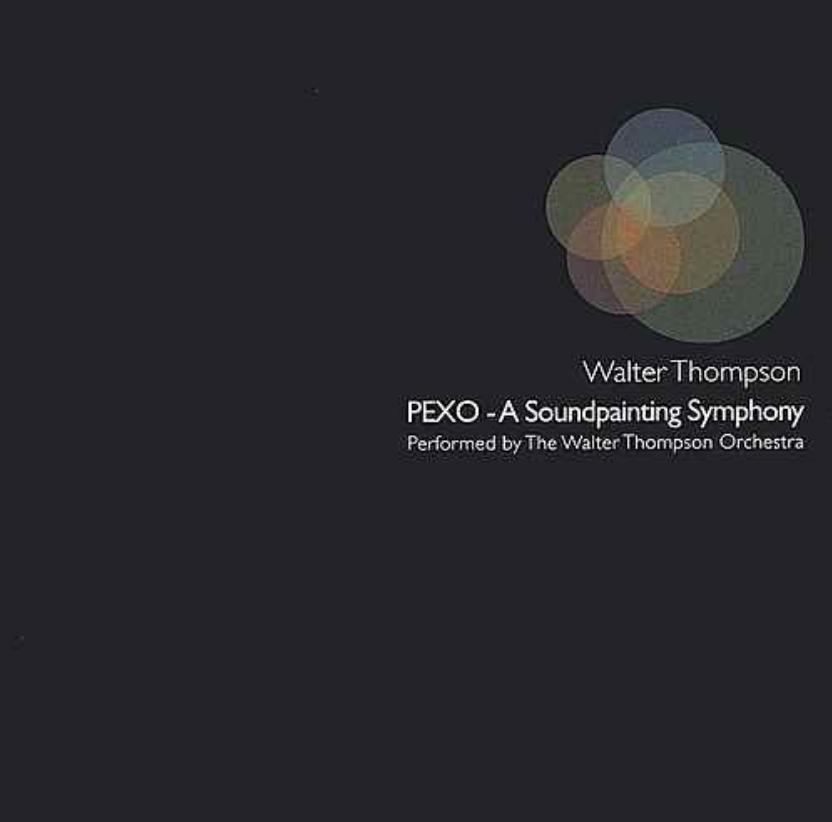 PEXO: A SOUNDPAINTING SYMPHONY - Walter Thompson Orchestra: Walter Thompson, Composer/Conductor, Todd Reynolds, Violin/Conductor, Sarah Weaver, Trombone/Conductor, Rolf Sturm, Guitar/Synth, Gil Selinger, Cello, Steve Rust, bass, Jim Whitney, bass, Rob Henke, trumpet, Christopher Washburne, trombone/tuba, Michael Attias, saxophones, Jody Espina, alto saxophone, Julie Ferrara, oboe/english horn, Andrea Pryor, percussion, Greg Stare, percussion, Leese Walker, actor, Michael David Gordon, actor, Christian Brandjes, actor