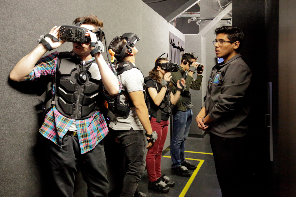 "COMPANY EVENTS - What better way to bond with your coworkers - play together or against each other! Call for special packages and offers for your company party or team building event.""Holy Moly, Soo incredibly cool... What an experience. I cannot wait to go again. This next time my family will be suited up and will do this mission together!The moment I suited up I felt this transformation, as if I was becoming my Avatar... Then, it was on... I was being transformed into a virtual world that needed me. I accepted the challenge with great enthusiasm. The simulations in the studio are spot on, truly life like... pipes and props you touch and see, movement on fighting, freedom to run around the studio, the machine gun feel and size, the climate in the atmosphere. All captured in perfect detail, clearly by some of the most creative individuals in the world.As a U.S. Marine, I give SPACES a"