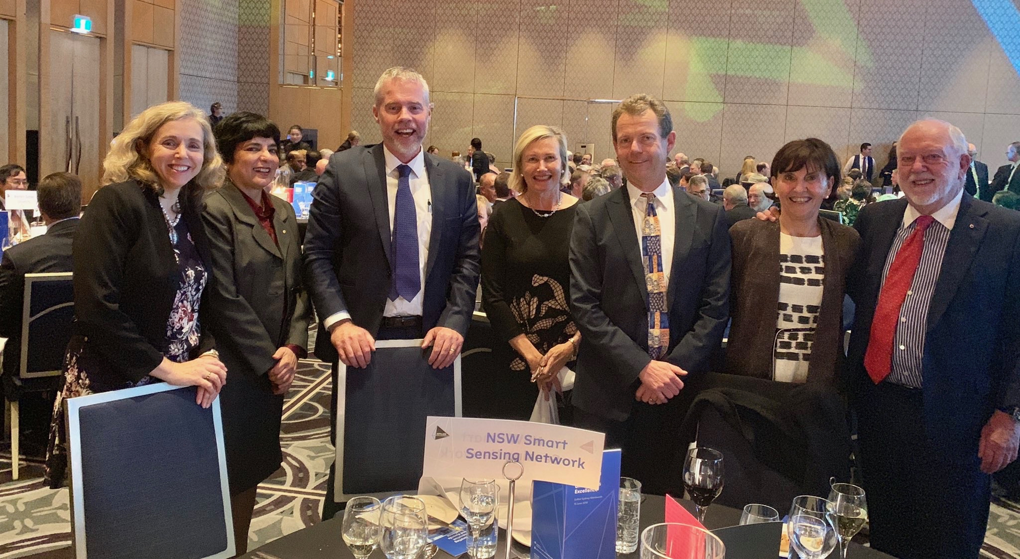 Jo White, Dr Marlene Kanga, Professor Ben Eggleton, Liz Dibbs, Peter Runcie, Dr Susan Pond, Dr Paul Scully-Power. NSSN at the Australian Academy of Technology and Engineering Gala.