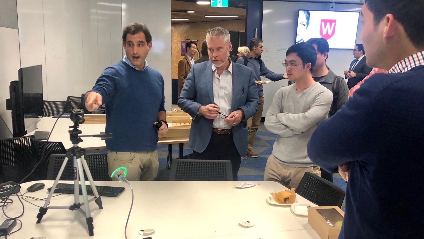 Dr Gregory Cohen, Dr Benjamin Eggleton, Dr Zhitao Xiong at WSU Parramatta City Campus.