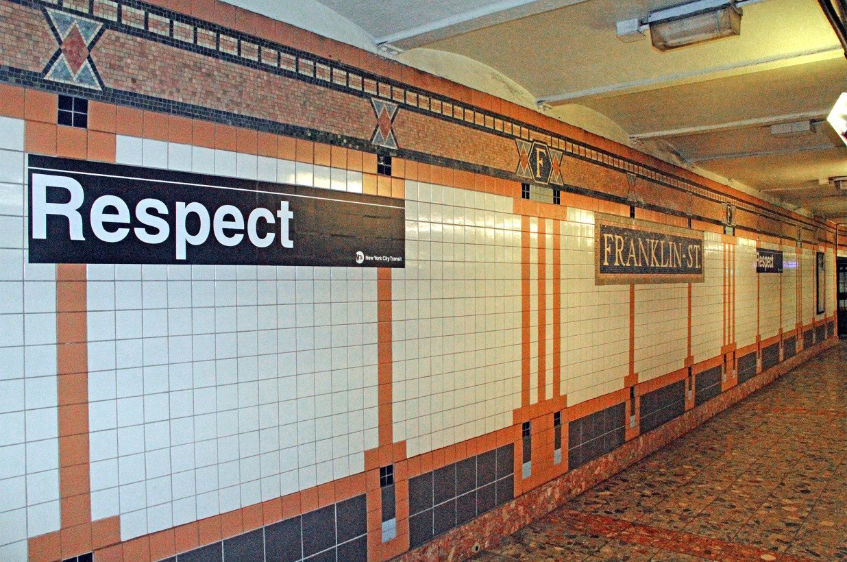 Figure 3:  (photo credit: https://nypost.com/2018/09/04/mta-honors-aretha-with-signs-at-franklin-avenue-subway-stops/)
