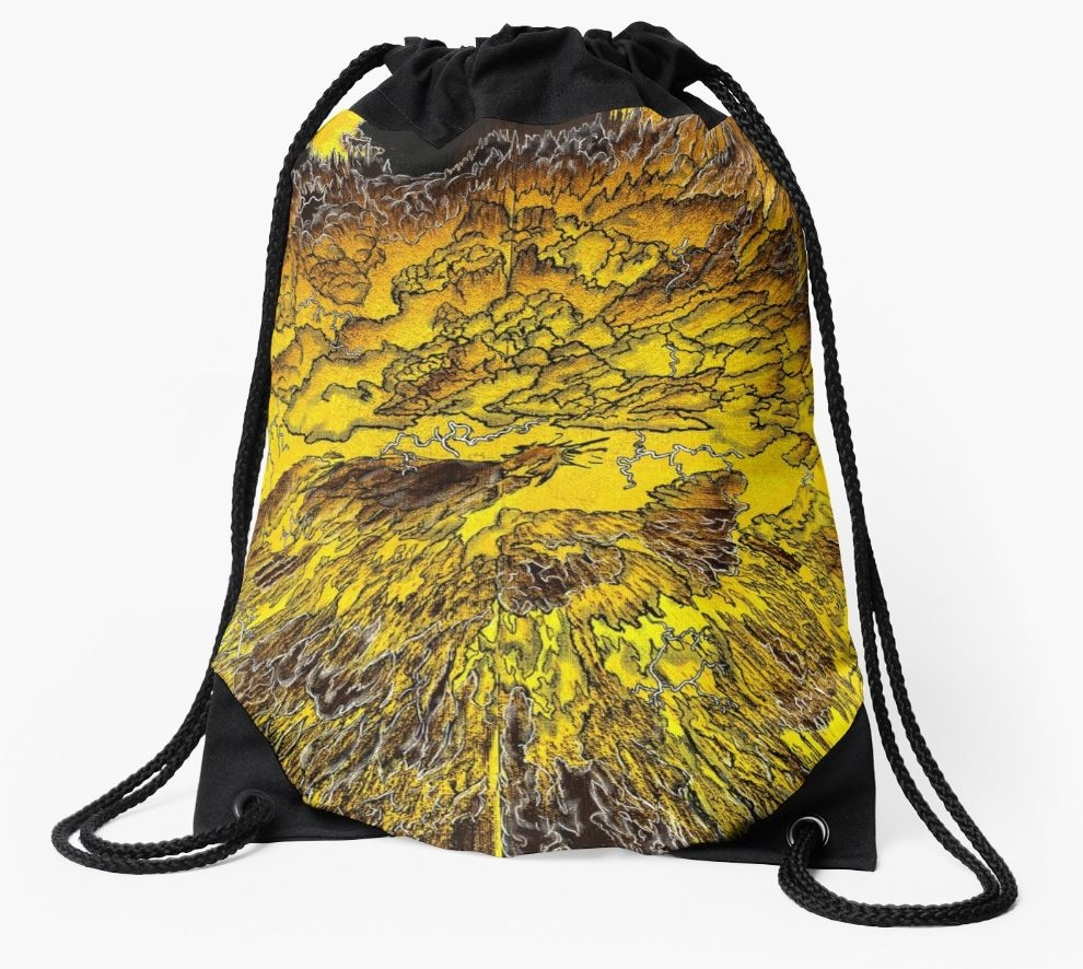 """Thunderclap"" Drawstring Bag"