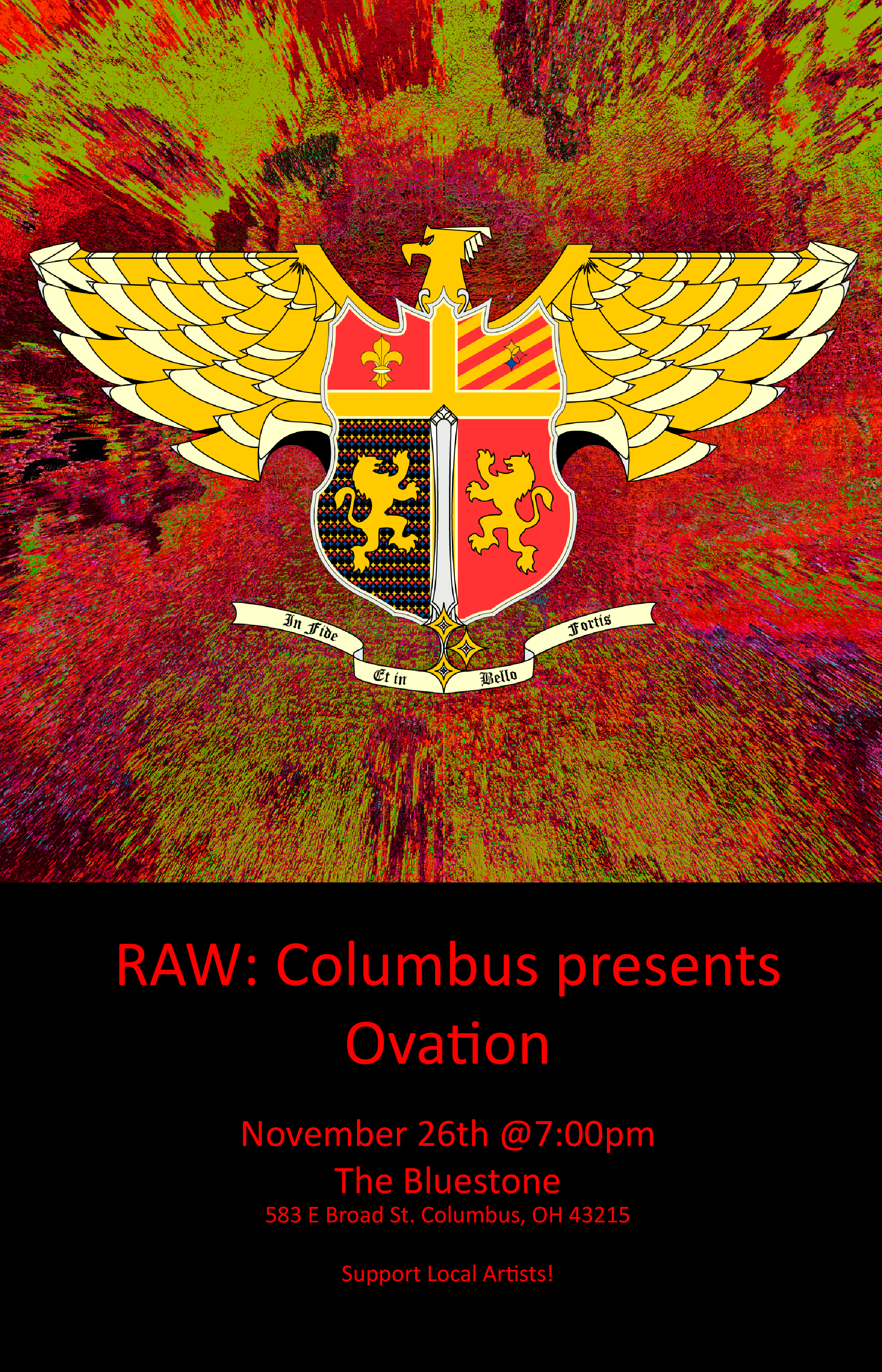 RAW: Columbus presents Ovation - November 26th @7pm Columbus, OH