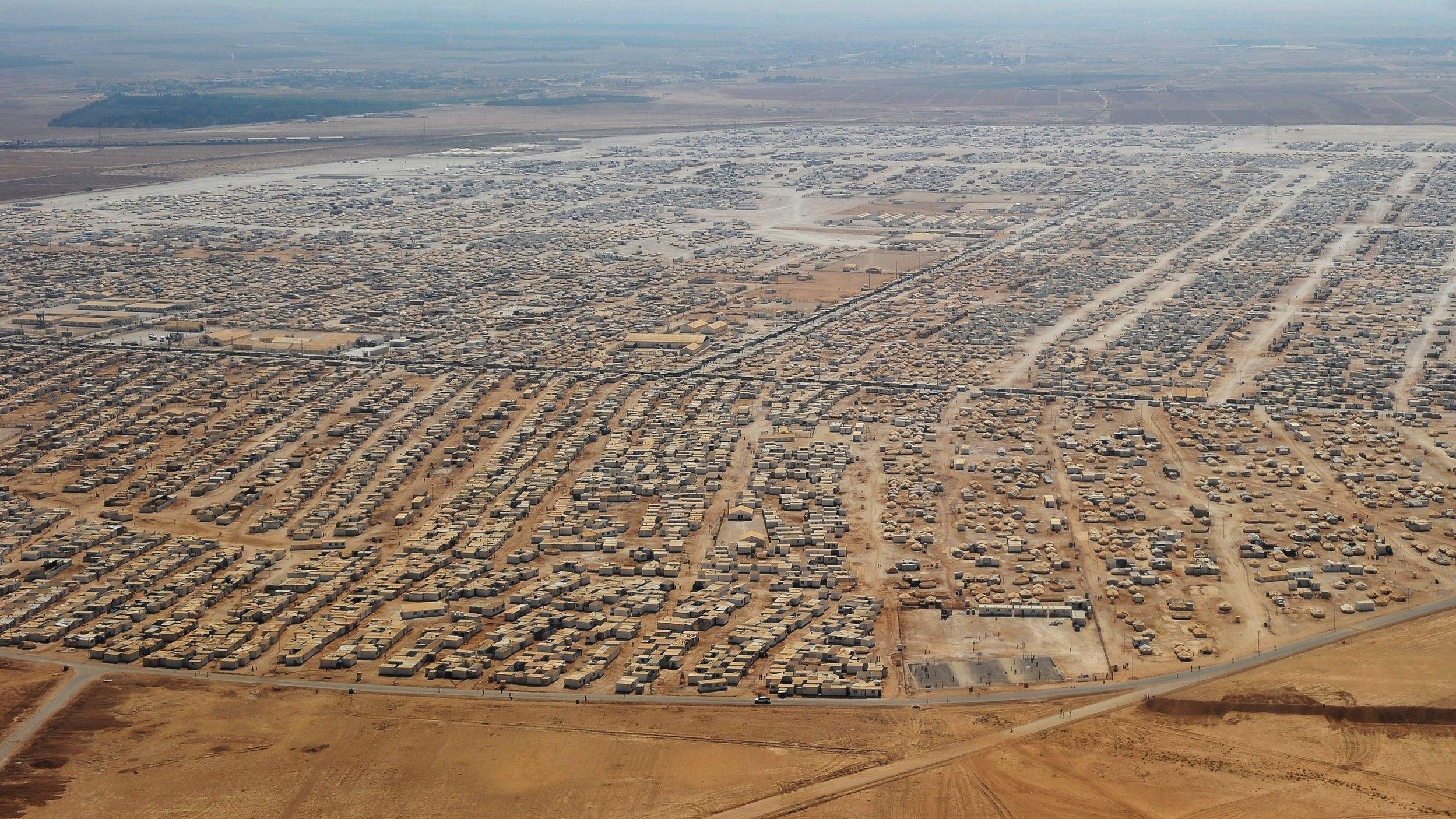 Zatari Refugee Camp, Jordan  Pop: ~79,000