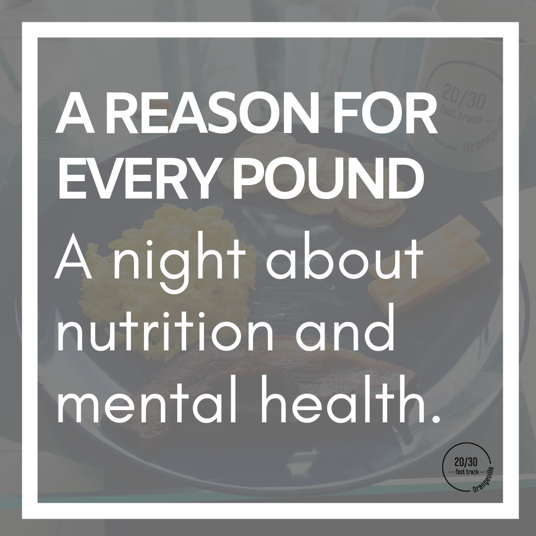 A Reason for Every Pound. - When: Thursday September 19th at 6:30pmWhere: Front Line Forward