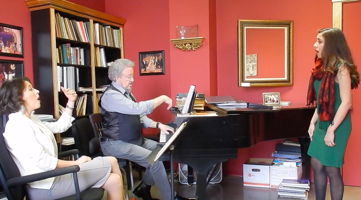 Coaching with renown soprano, Lisette Oropesa and voice teacher, Professor Robert Grayson