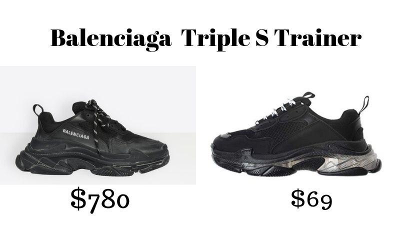 TRIPLE S TRAINERS Black   https://shopstyle.it/l/5eNN    TRIPLE S TRAINERS Black DUPE   https://amzn.to/2NnwdmQ