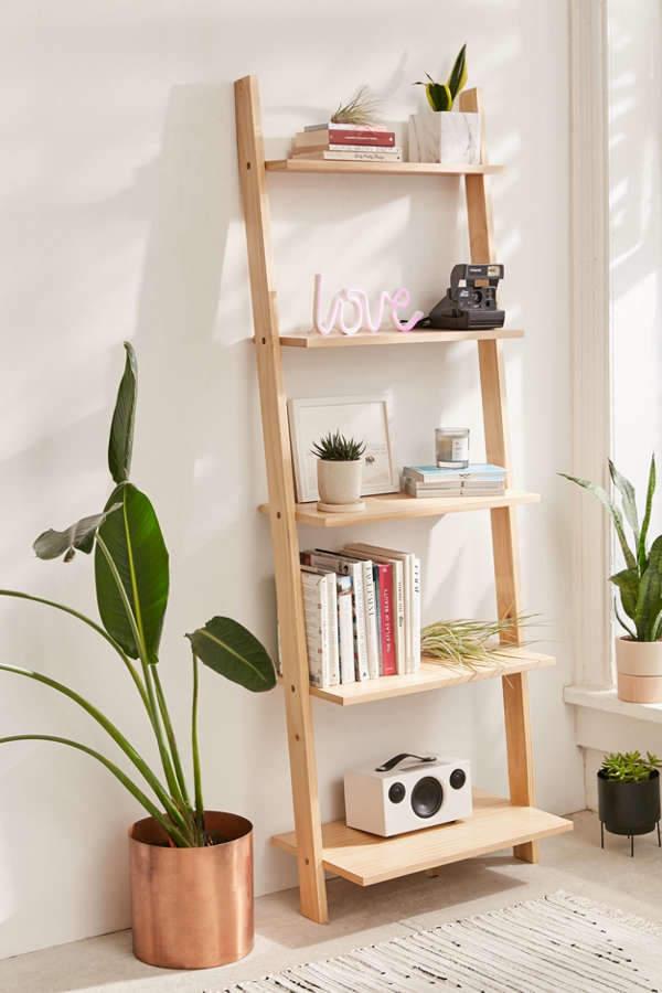Leaning Bookshelf $229