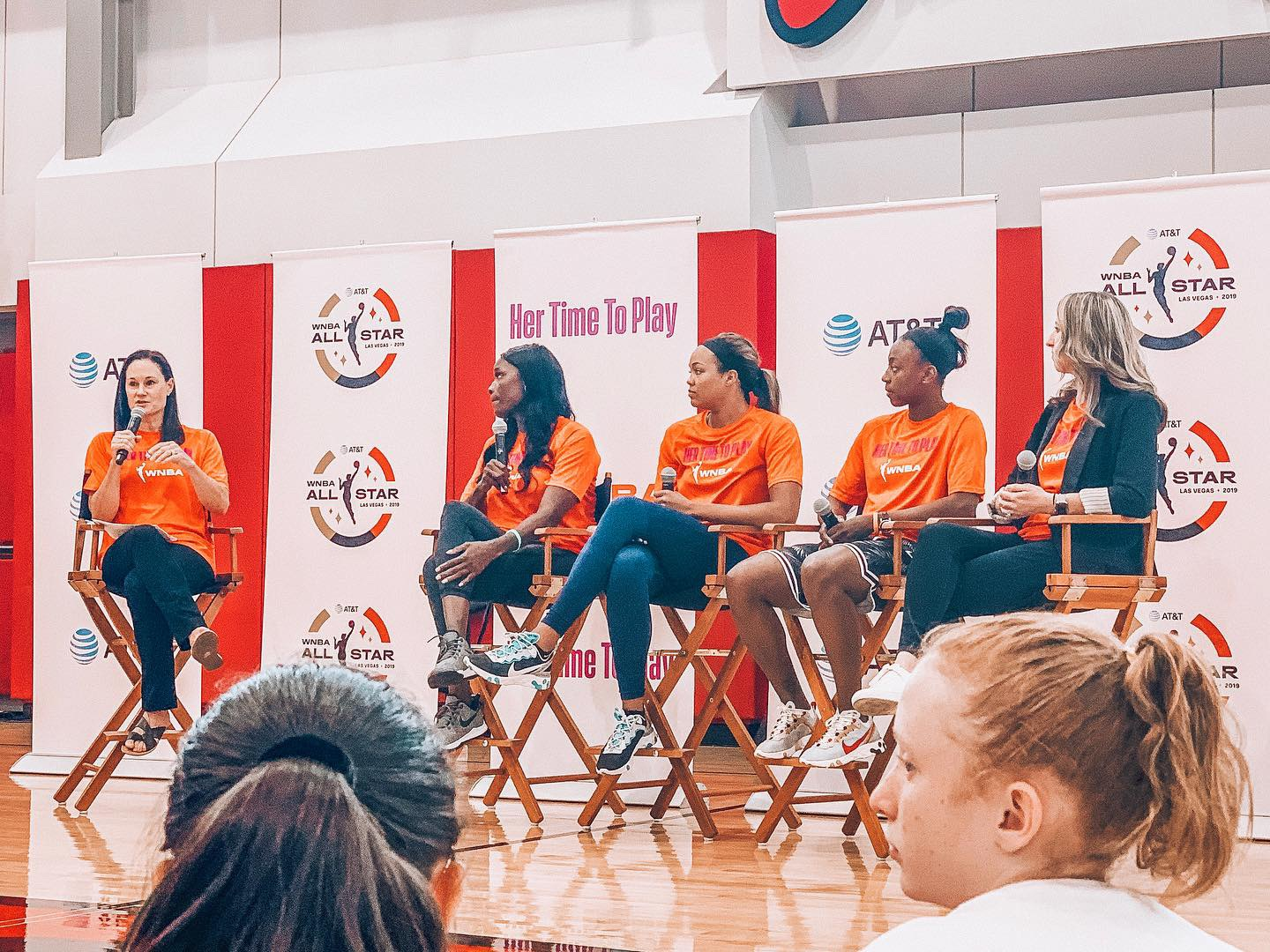 """Aces, WNBA All Stars and Legends Host """"Her Time to Play"""" Clinic ahead of All-Star 2019 -"""