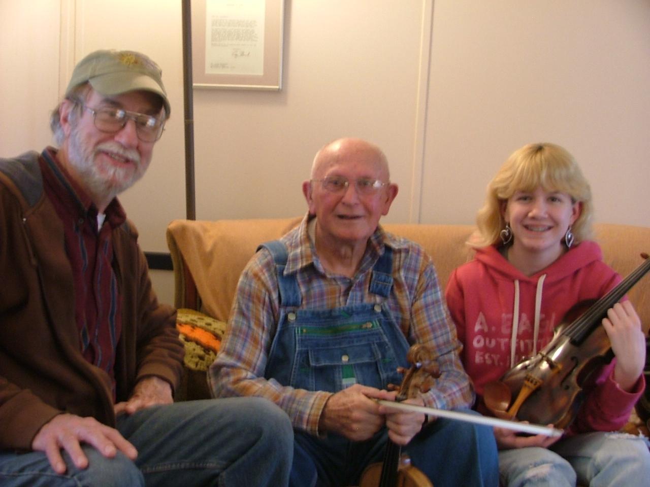 John, Clyde Davenport, and Rossi Clark, my apprentice in 2006
