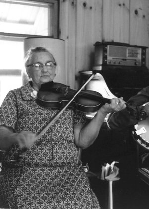 Lella Todd who lived at Spout Springs in Powell Co., KY was one of the greatest fiddlers I ever heard. A selection of home recordings of her playing will be included on a forthcoming release for the Field recorders Collective.