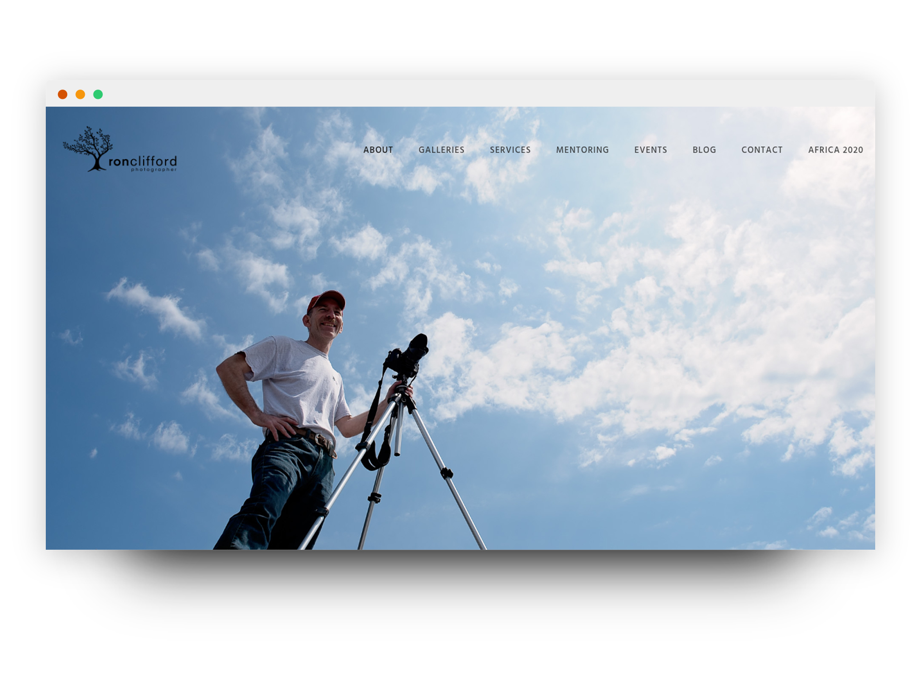 Ron Clifford Photography website mockup