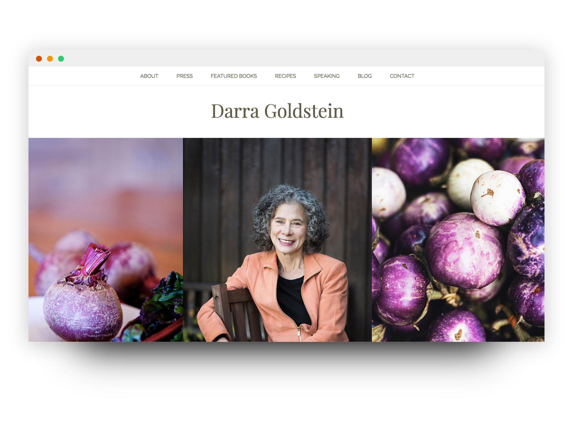 Darra Goldstein website mockup