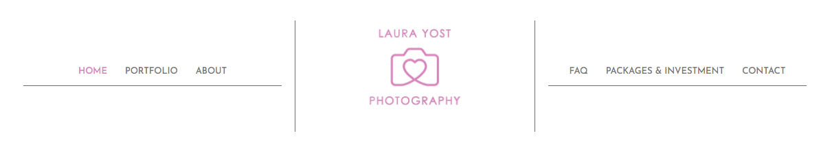 Laura's site is easy to navigate