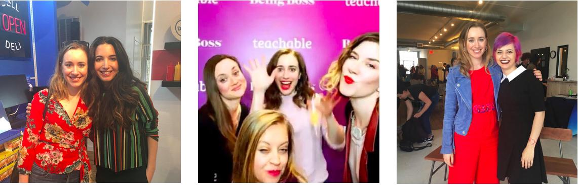 Cami Farey, Marie Forleo, Emily Thompson, Kathleen Shannon, and Kimra Luna